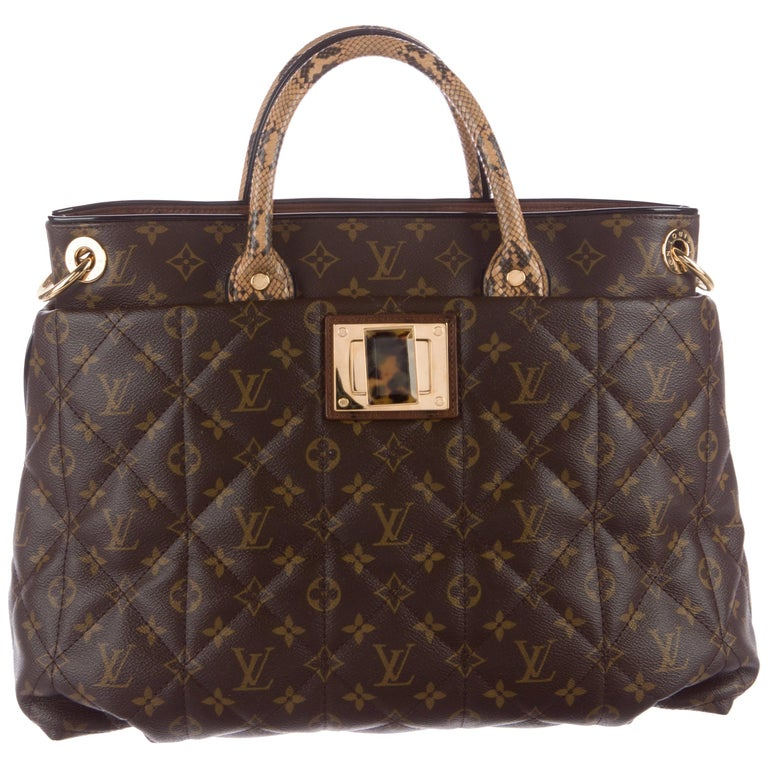 Louis Vuitton Monogram Python Large Men's Carryall Top Handle Tote Shoulder Bag
