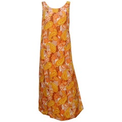 Sunny 1960's Leisure Lovers Apron Dress Caftan