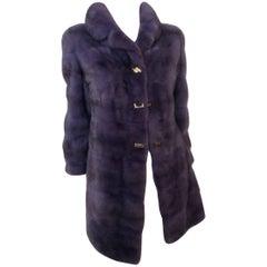 Christian Dior Dark Lavender Mink Coat Sz S