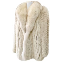 VIntage Winter White Fox Fur Coat