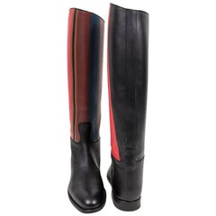 HERMES Riding Boots in Multicolored Leather Size 39EU