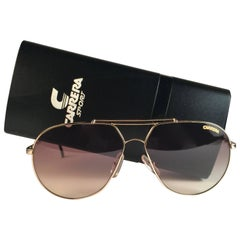 New Vintage Carrera Aviator 5421 Gold Large Sunglasses Austria