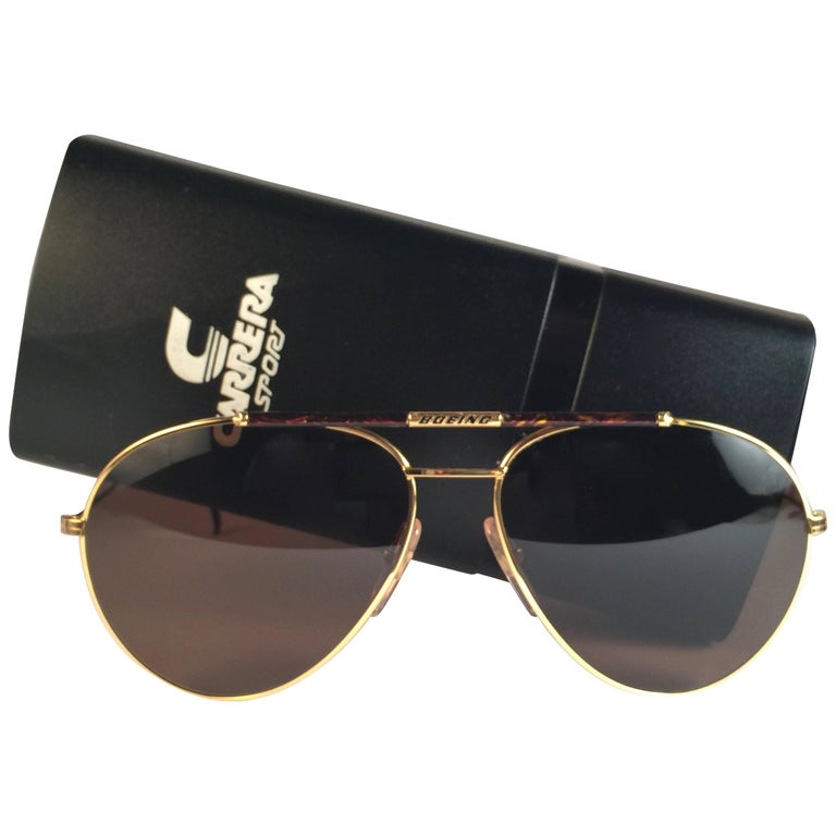 691f0a8d18b New Vintage Boeing by Carrera Aviator Tortoise Gold Large Sunglasses  Austria For Sale at 1stdibs