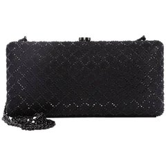 Chanel CC Clasp Clutch Embellished Leather