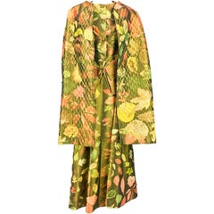 Hermes Printed Silk Coat, Waistcoat and Maxi Skirt Ensemble