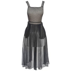 Maison Margiela Swiss-Dot Tulle Apron Dress   NEW