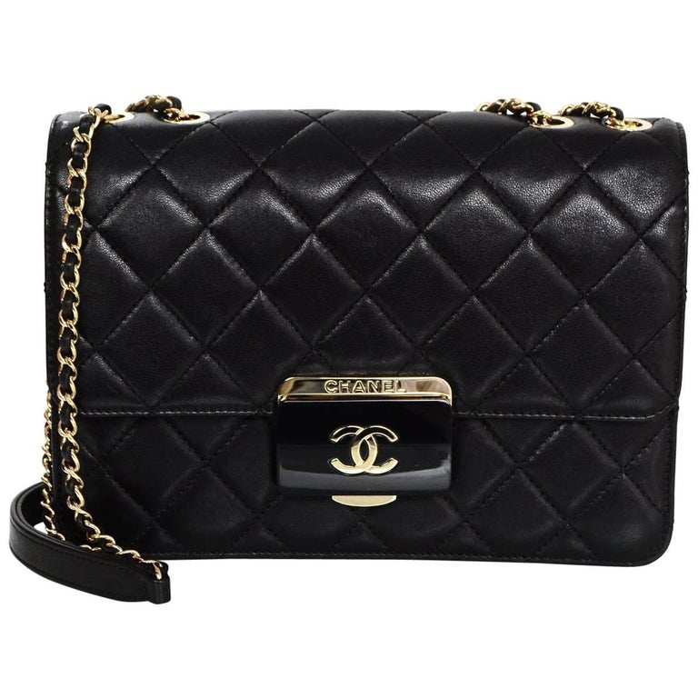 9a95296898f1bb Chanel 2016 Black Quilted Sheepskin Large Beauty Lock Flap Bag rt. $3,800  For Sale