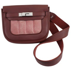 Hermes Berline PM Bag in Dak Red Super Soft Swift Box and Suede