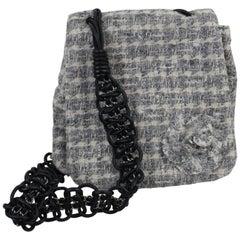 Chanel Tweed Camelia Messenger Bag. Seen in 2005 Catwalk Look 21