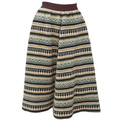 1950's Swedish Wool Knit Circle Skirt
