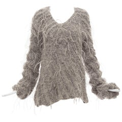 Olivier Theyskens Nina Ricci Alpaca Mohair Ostrich Feathers Sweater, Fall 2007