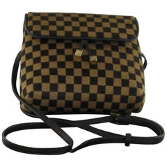 LOUIS VUITTON Belt Pouch in Damier Coated Foal Leather