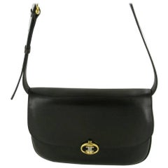 Vintage CELINE Bag in Dark Brown Box Leather