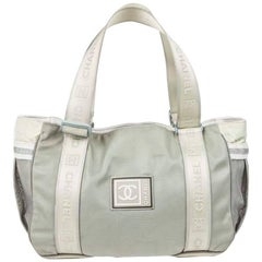 CHANEL 'Sport Line' Bag in Gray Canvas