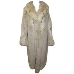 Vintae Silver Fox Long  Fur Coat