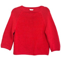 Oscar De La Renta Red Longsleeve Sweater Sz Small