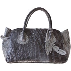 """""""It"""" Bag with Salt Water Crocodile and Rubberized Python Designed by Glen Arthur"""