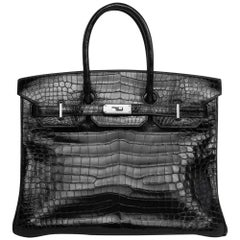 2008 Hermès Black Crocodile Birkin Bag