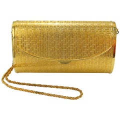 1960s Saks Fifth Avenue Gold Metal Evening Bag