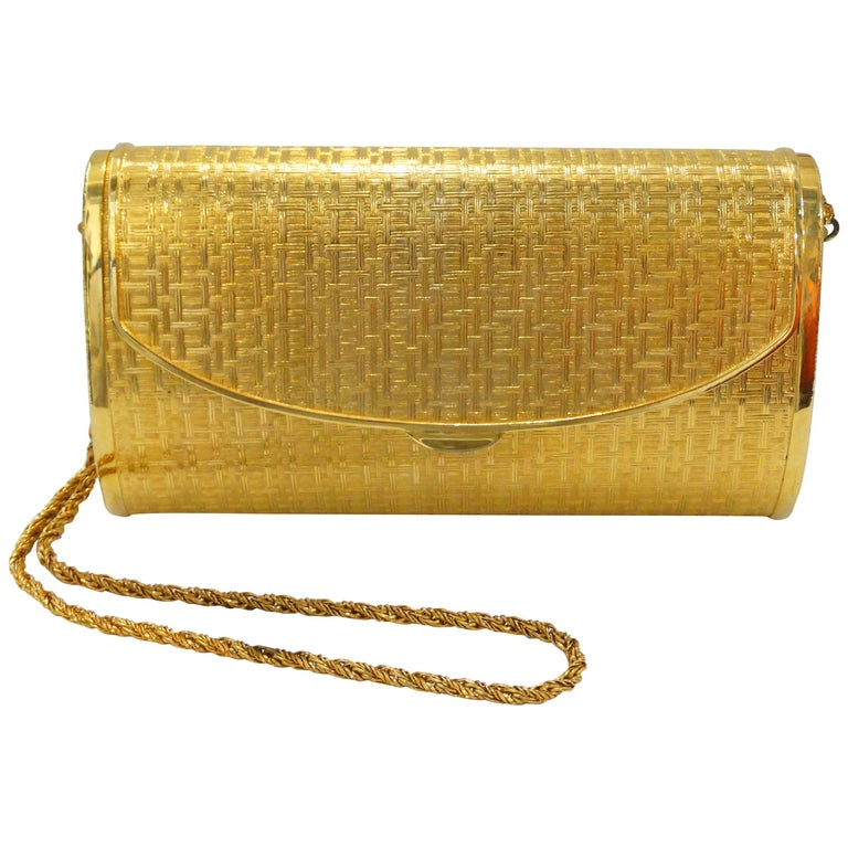 1960s Saks Fifth Avenue Gold Metal Evening Bag 1