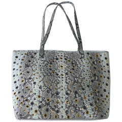 702a84ff6d7 Natural Variegated Python Perforated  amp  Studded Tote Bag by Glen Arthur  Designs