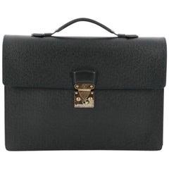 Louis Vuitton Serviette Kourad Briefcase Taiga Leather