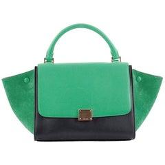 Celine Bicolor Trapeze Handbag Leather Mini