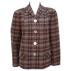 Classic C.1950 Pendleton '49er Plaid Wool Jacket