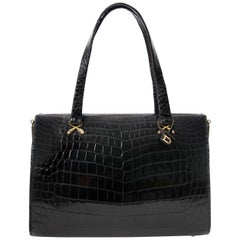 Delvaux Croco Black Evening Bag