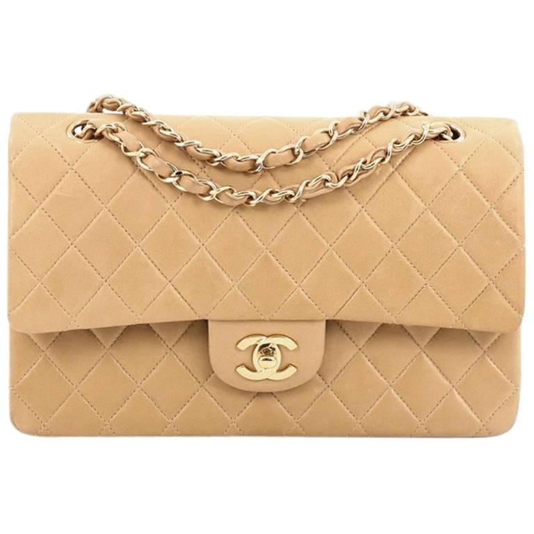 Chanel Vintage Classic Double Flap Bag Quilted Lambskin Medium at 1stdibs fe7c432aa727a