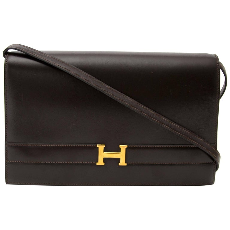 Hermès Brown Annie Clutch Bag
