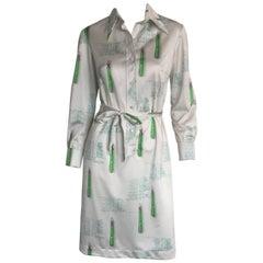 Lanvin 1970s mathematician printed dress