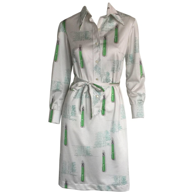 Lanvin 1970s mathematician printed dress