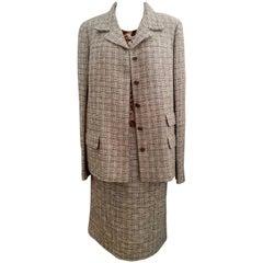 Chanel 3 piece Chenille Skirt Suit 2005 Size 46