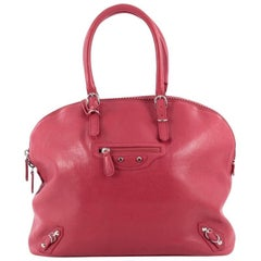 Balenciaga Carousel Bowling Bag Classic Studs Leather Large