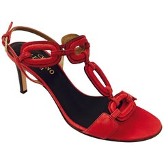 Very Valentino Ravishing Red O Ring High Heel Sandals