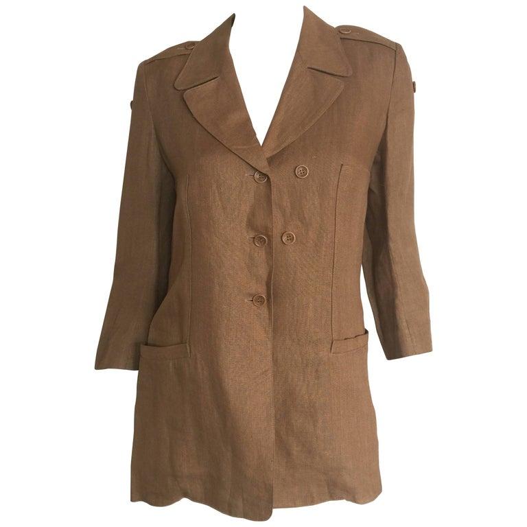 Sonia Rykiel camel linen blazer
