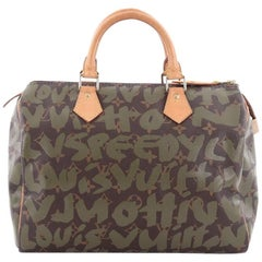 Louis Vuitton Speedy Handbag Limited Edition Monogram Graffiti 30