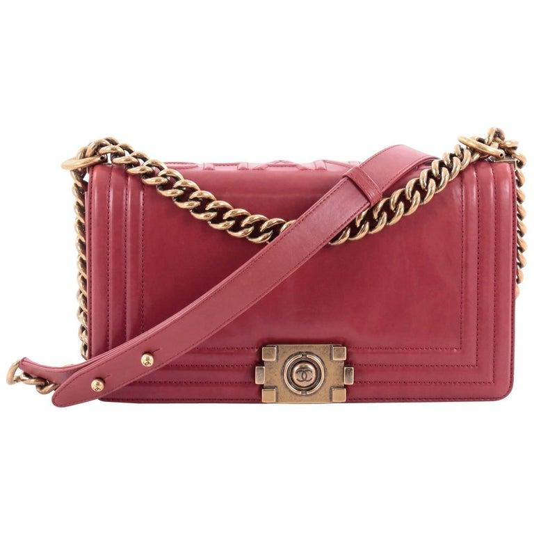 72c52c42c11e Chanel Reverso Boy Flap Bag Glazed Iridescent Calfskin Old Medium For Sale