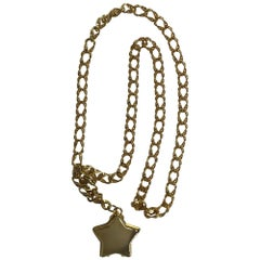 Judith Leiber stars chain belt or necklace gold stars chain and locket rare