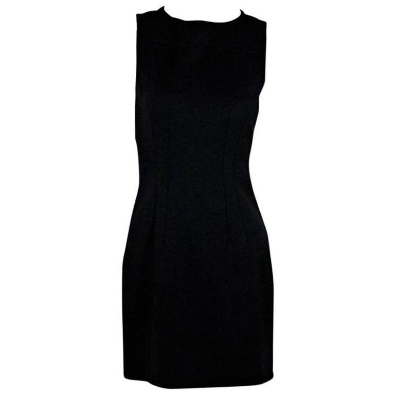 Black Prada Sleeveless Sheath Dress