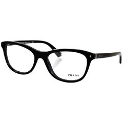 Prada Black Logo Eye Glasses with Box and Case