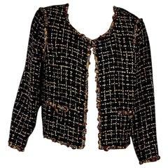 Multicolor Chanel Embellished Woven Jacket