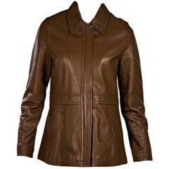 Tan Coach Leather Jacket