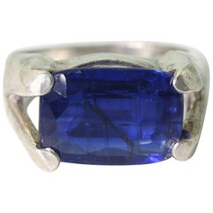 Gorgeous Glistening Blue Kyanite Ring