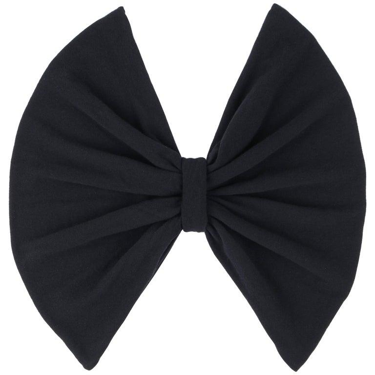 VALENTINO S/S 2006 Black Cashmere Knit Bow Shrug NWT