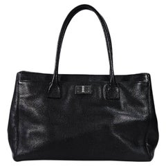 Chanel Black Leather Reissue Tote Bag