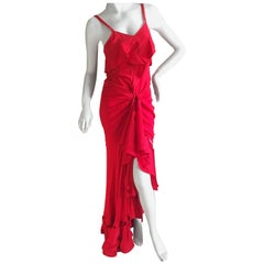 Yves Saint Laurent by Tom Ford Fall 2003 Red Two Piece Evening Dress