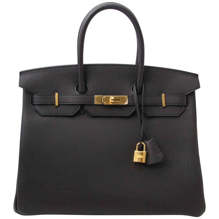 Never Used Hermes Birkin 35 Black Togo  For Sale