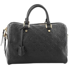 Louis Vuitton Speedy Bandouliere Bag Monogram Empreinte Leather 30